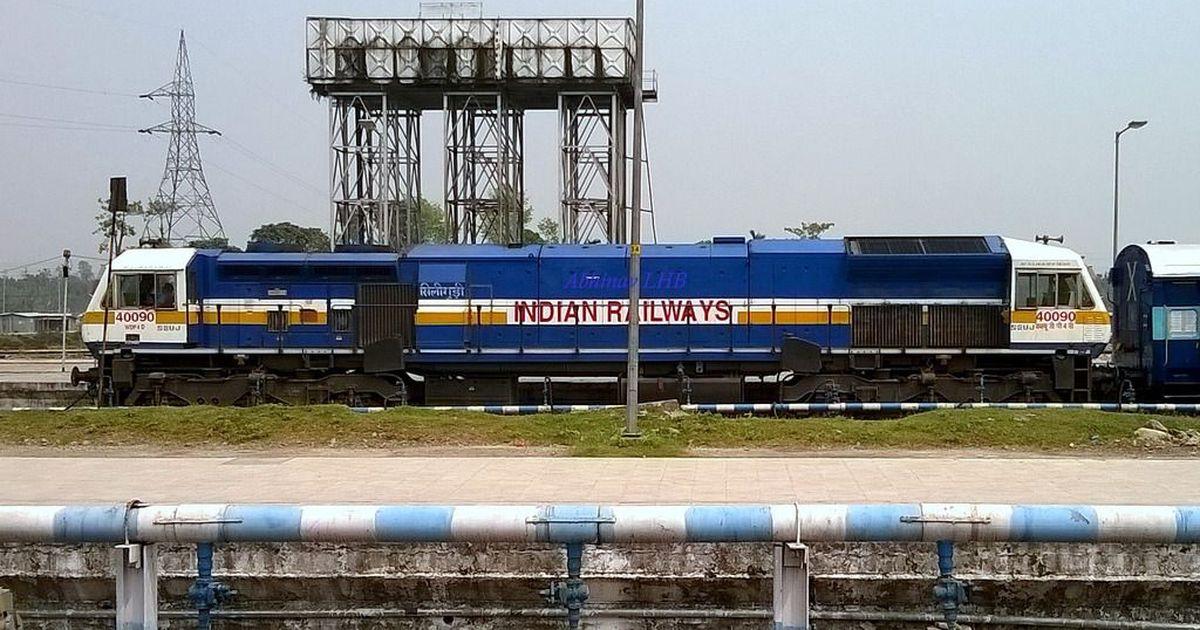 karnataka railway staff chase and stop train engine running without
