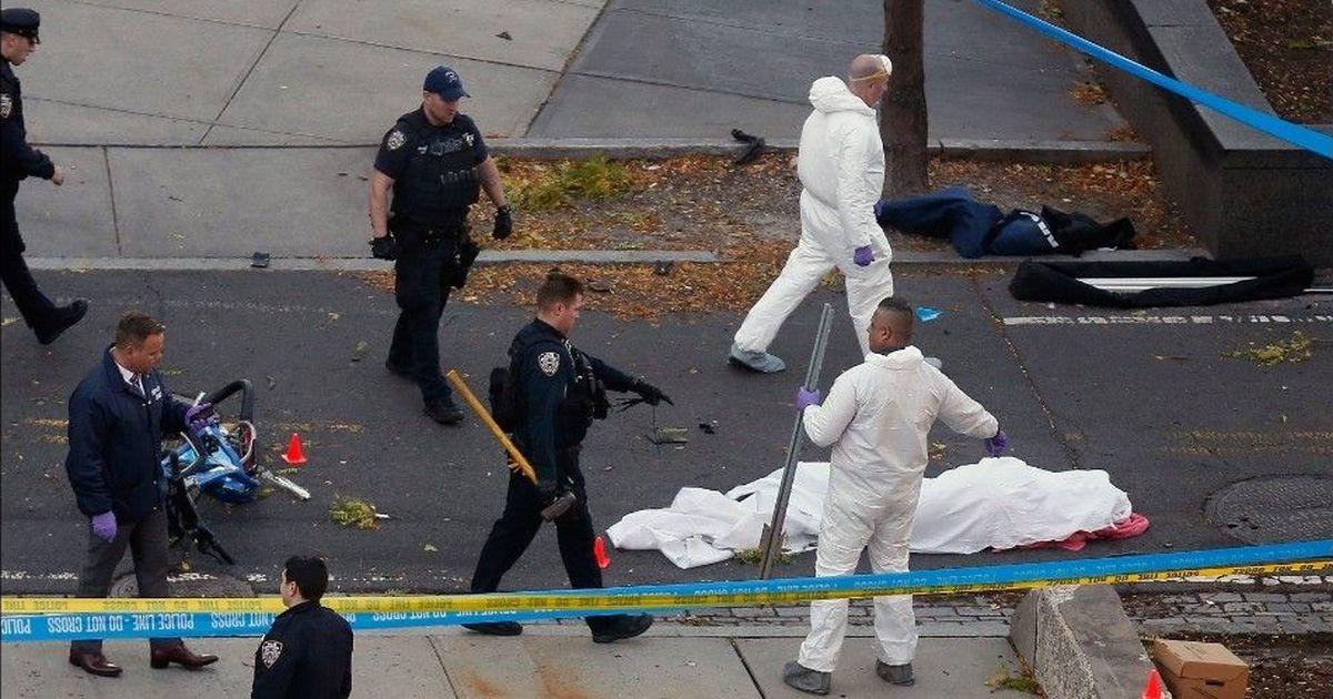 अमेरिका : न्यूयॉर्क में ट्रक सवार हमलावर ने आठ को कुचला