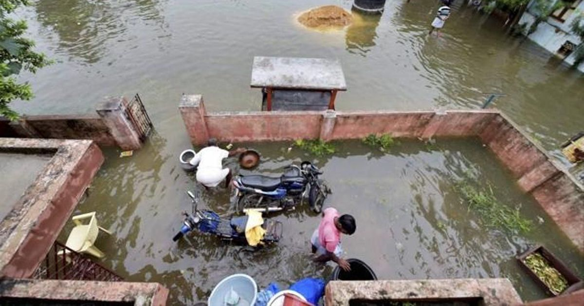 Chennai received rain for six hours, led to water logging