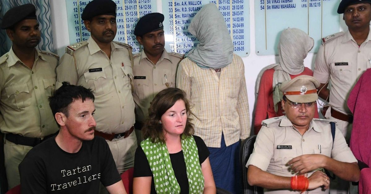 Bihar: Two men arrested for misbehaving and attempting to loot British couple