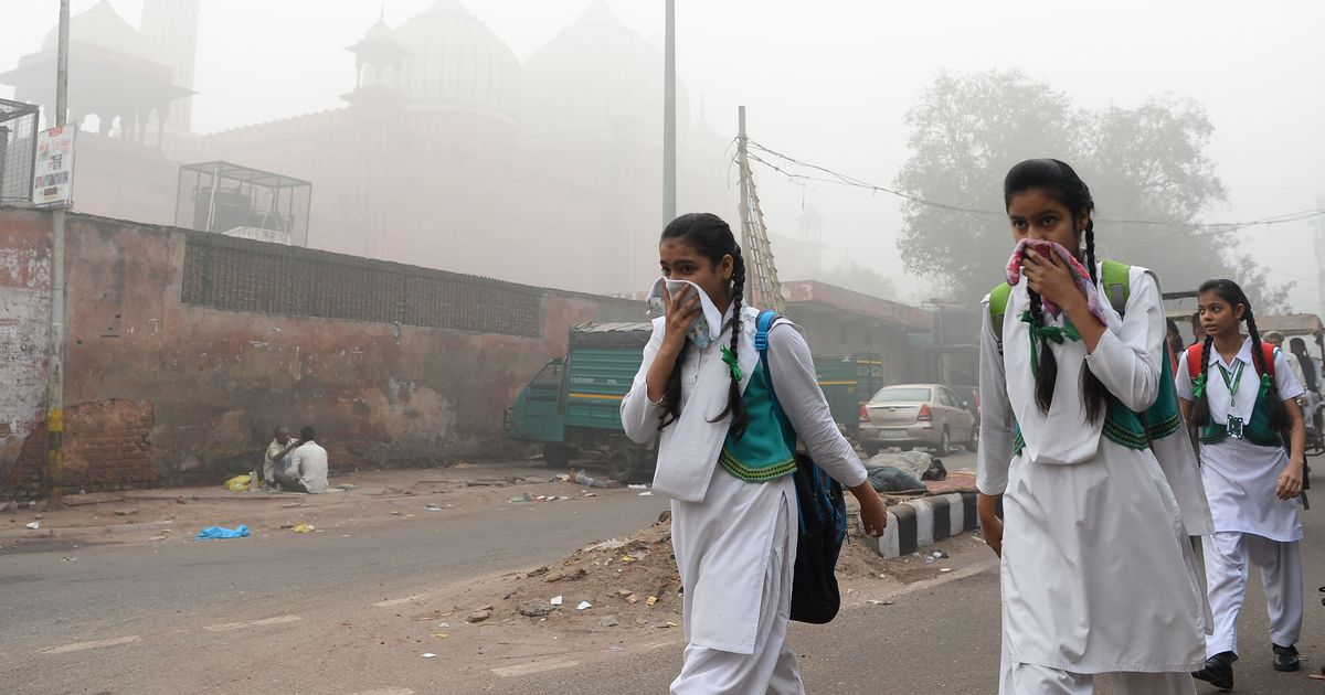 दिल्ली : वायु प्रदूषण की स्थिति बिगड़ी, रविवार तक सभी स्कूल बंद