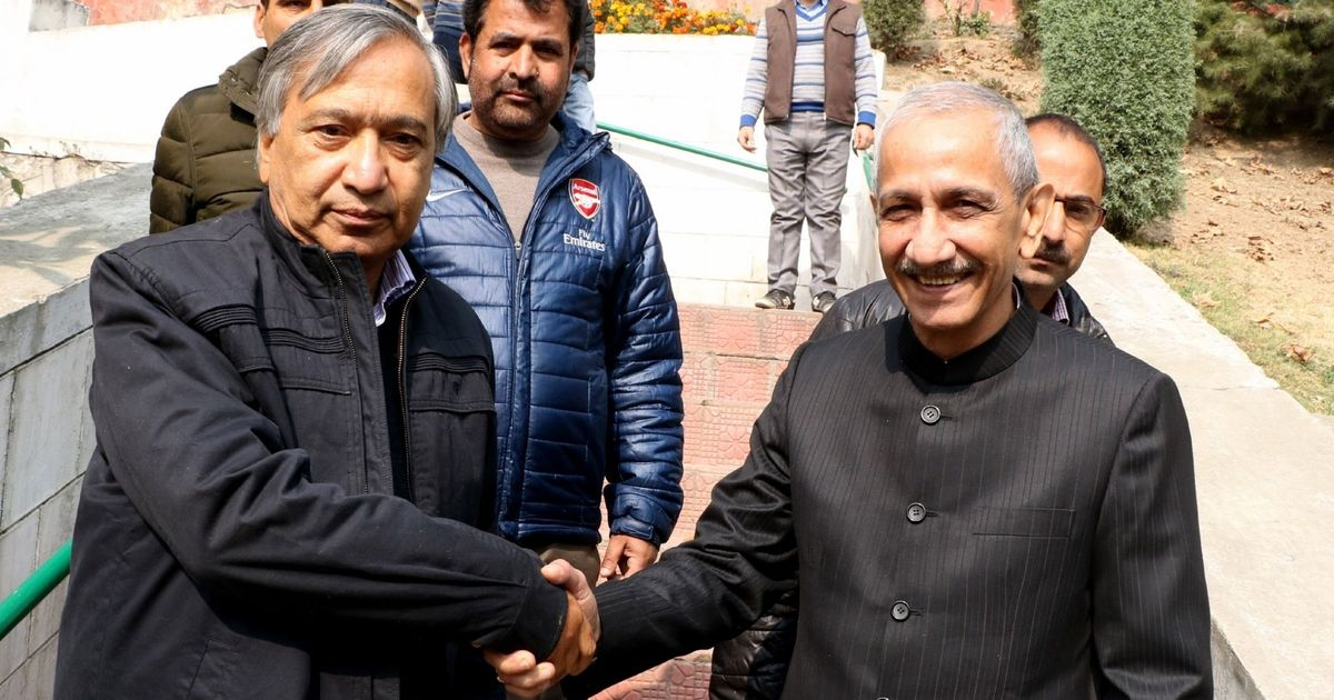 Panun Kashmir leaders meet Interlocutor Dineshwar Sharma at Jammu