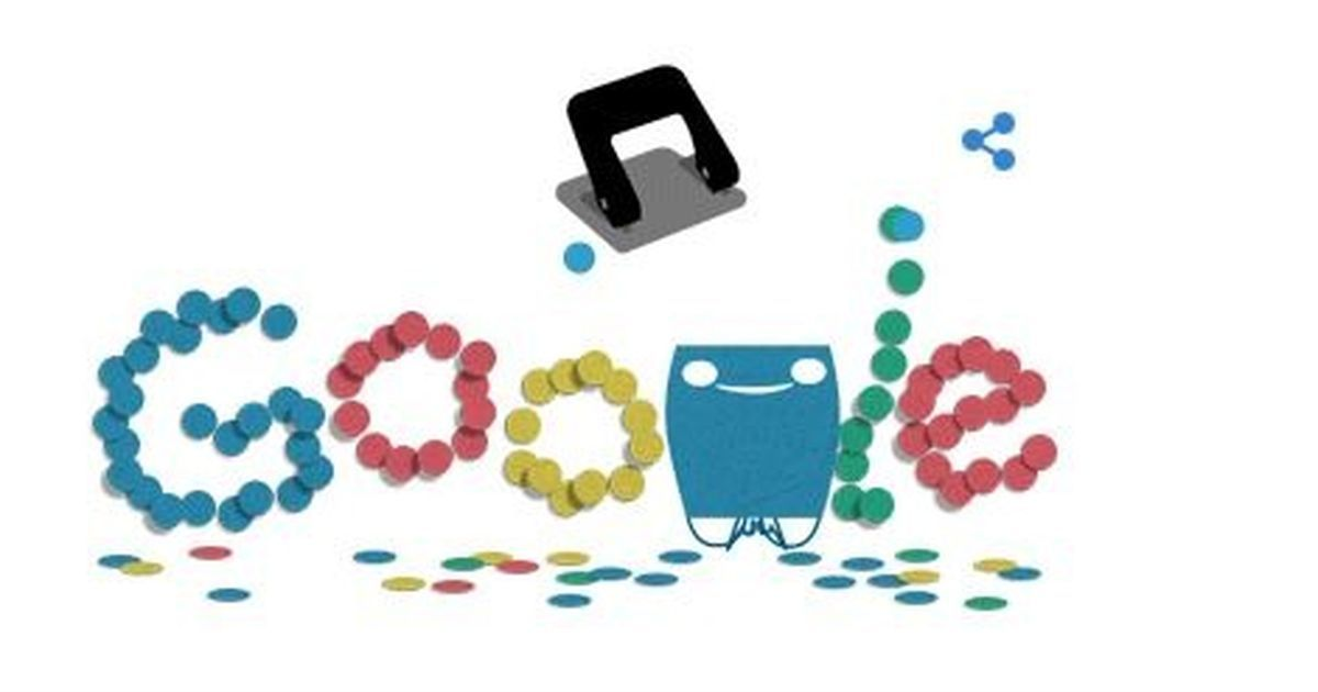 Google Doodle marks 131st anniversary of the hole puncher