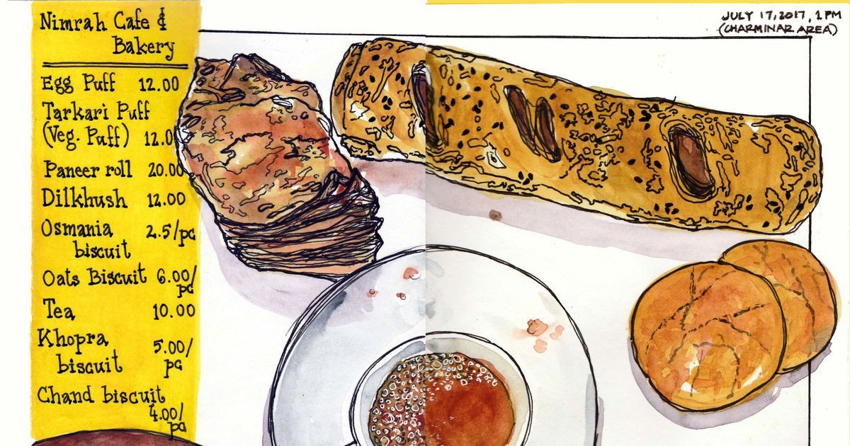 What's better than Instagram photos of food? An illustrated travel journal of culinary adventures