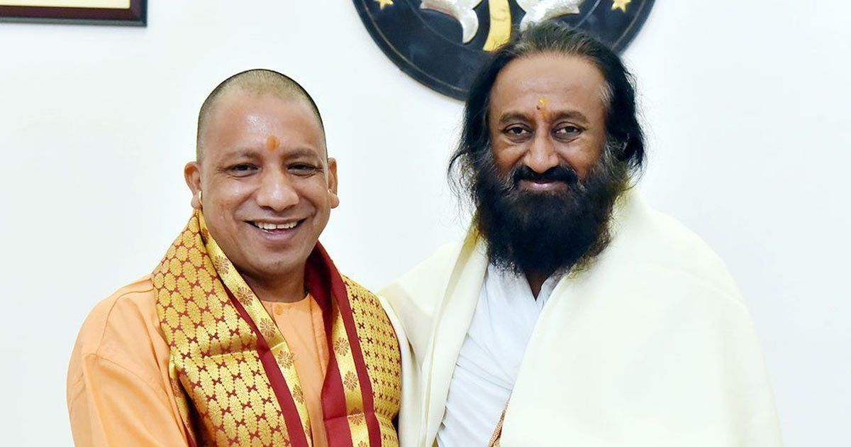 Art of Living founder Sri Sri Ravi Shankar meets UP CM Adityanath day before Ayodhya visit