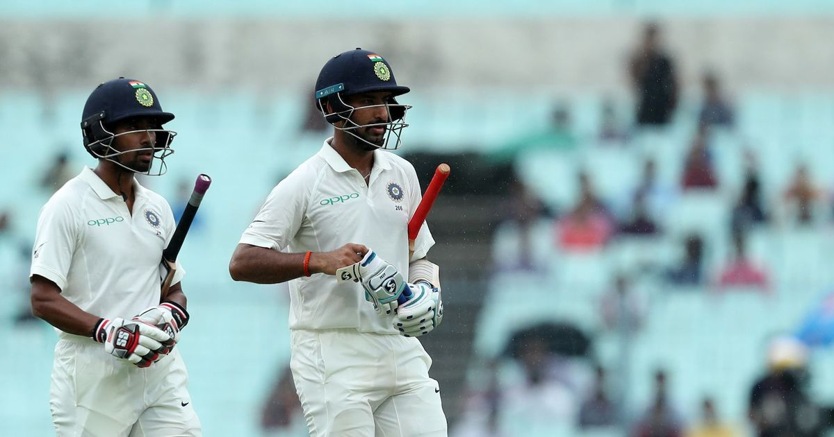 Lakmal stuns India on weather-affected first day