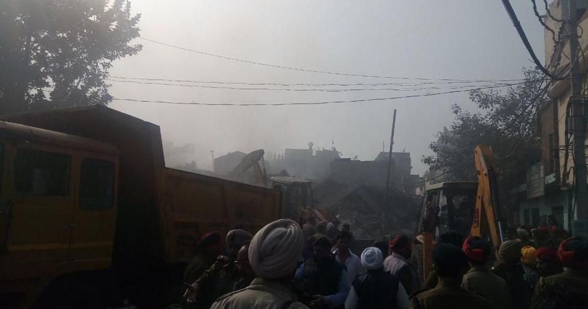 Three firemen killed as Ludhiana building collapses after fire