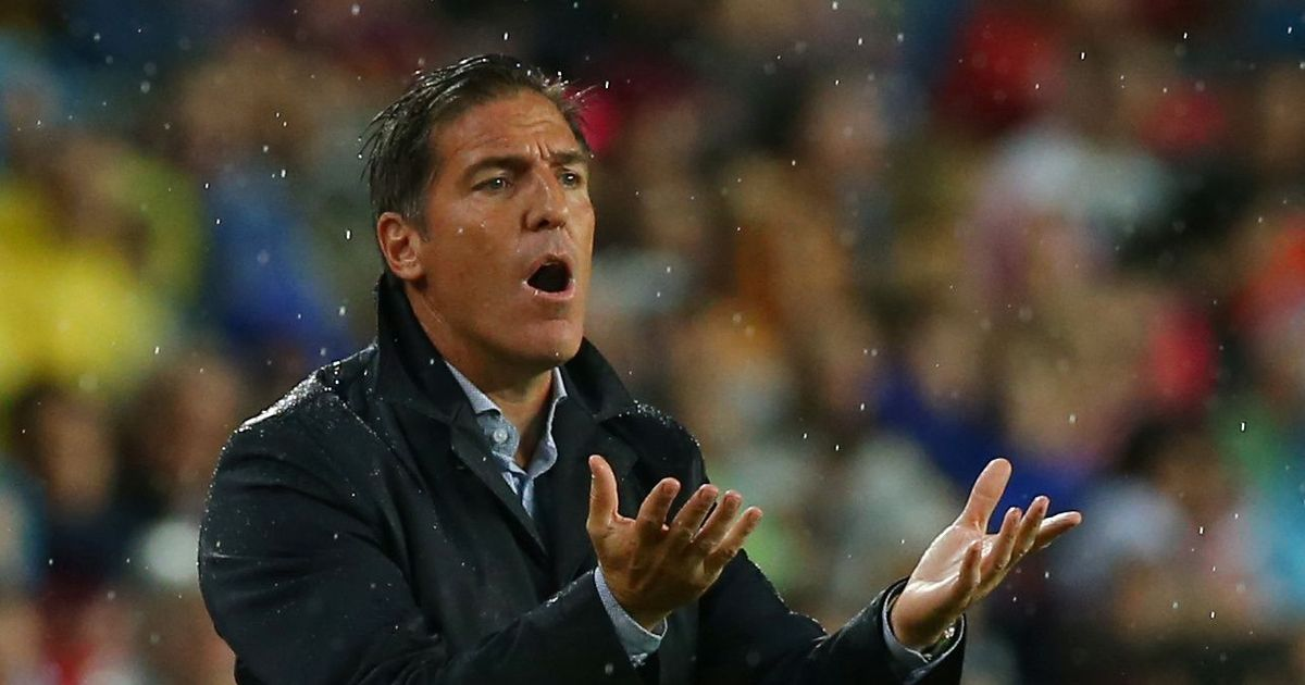 Sevilla head coach Eduardo Berizzo dismissed