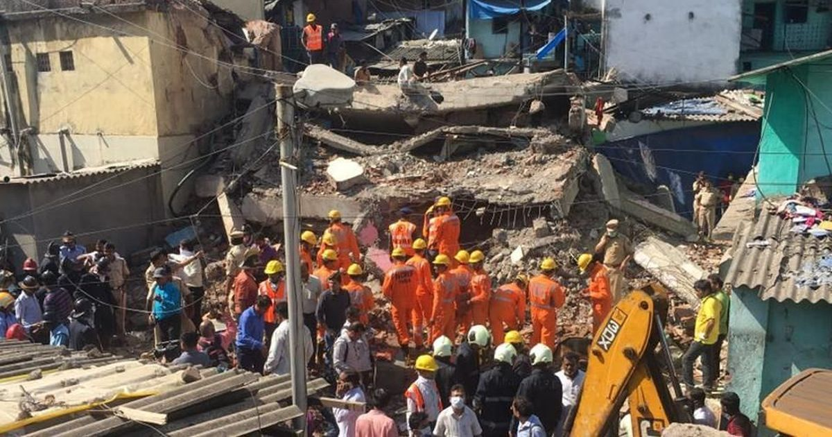 3 dead, 9 hurt as 4-storey building falls in Bhiwandi, Mumbai