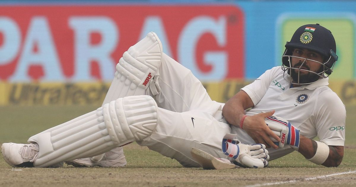 Kohli' Vijay rebuilding India's innings after the loss of two early wickets