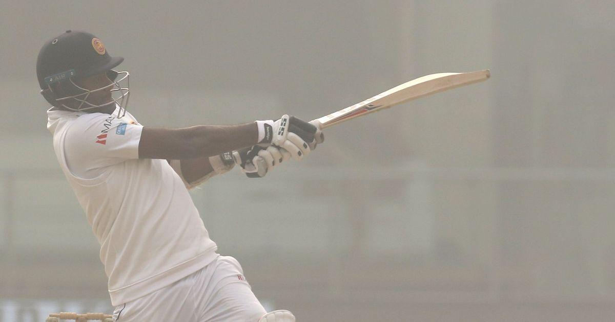 Mathews, Chandimal defy India before Ashwin's late strikes peg Sri Lanka back in hazy Delhi