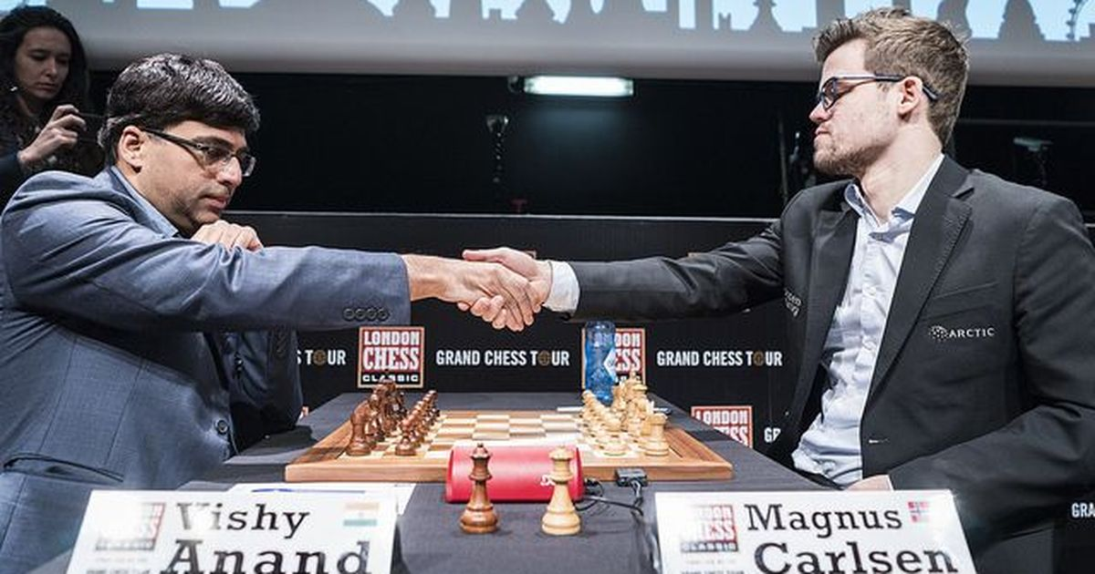 The much awaited Anand-Carlsen clash in London Chess Classic round three ends in draw