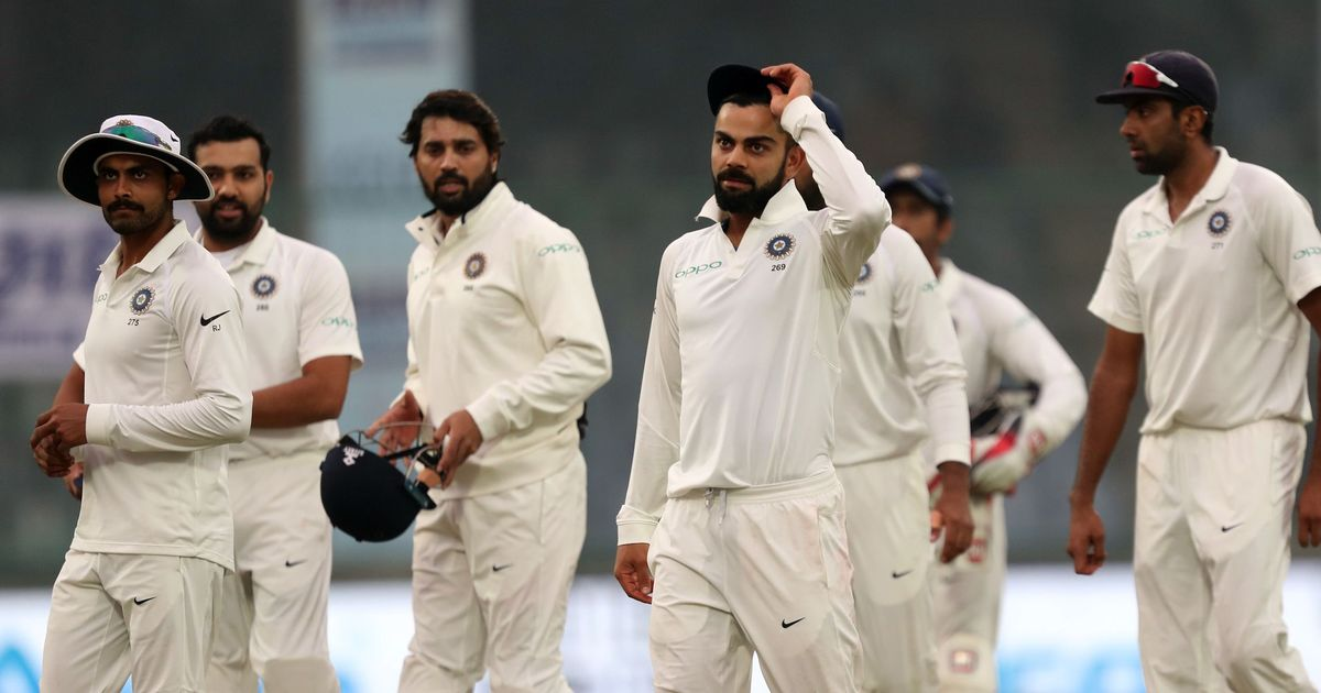 India seven wickets away from sealing a 2-0 series win as pollution takes center-stage again