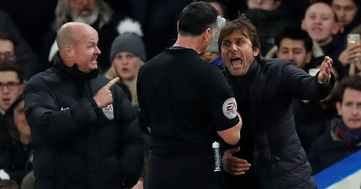 Chelsea manager Antonio Conte fined for touchline rant with referee during Swansea match