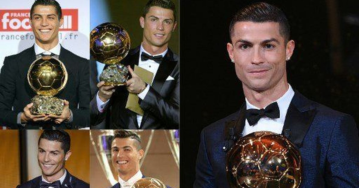 Cristiano Ronaldo wins a fifth Ballon d'Or to equal Lionel Messi