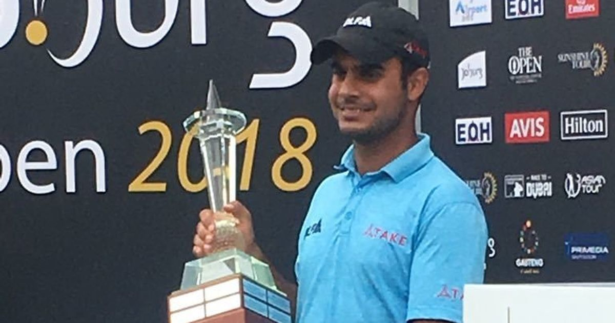 Golf: 21-year-old Shubhankar Sharma wins first European Tour title at Joburg Open