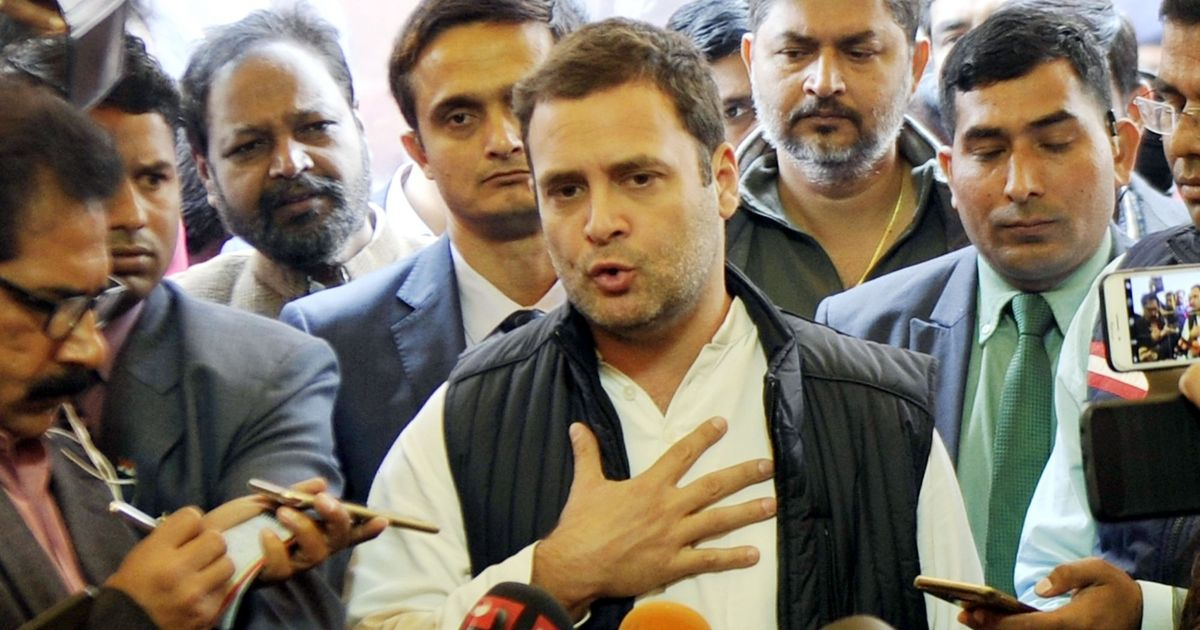 Gujarat results 'zabardast jhatka' to BJP, says Rahul