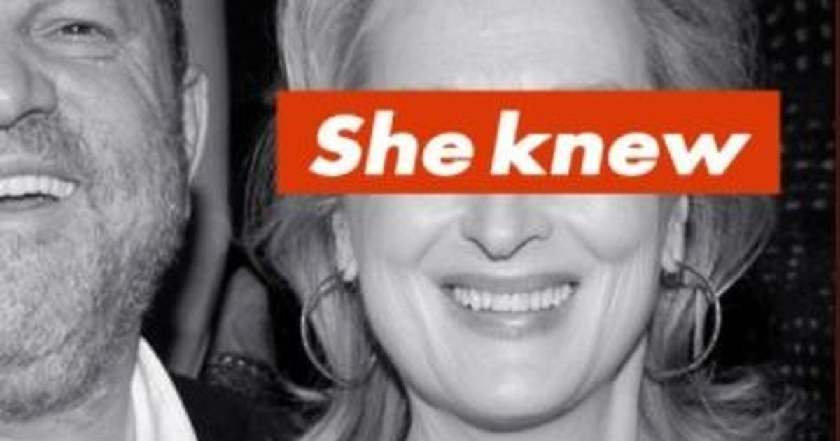 Alt-right artist says he was behind 'She Knew' posters of Meryl Streep with Harvey Weinstein