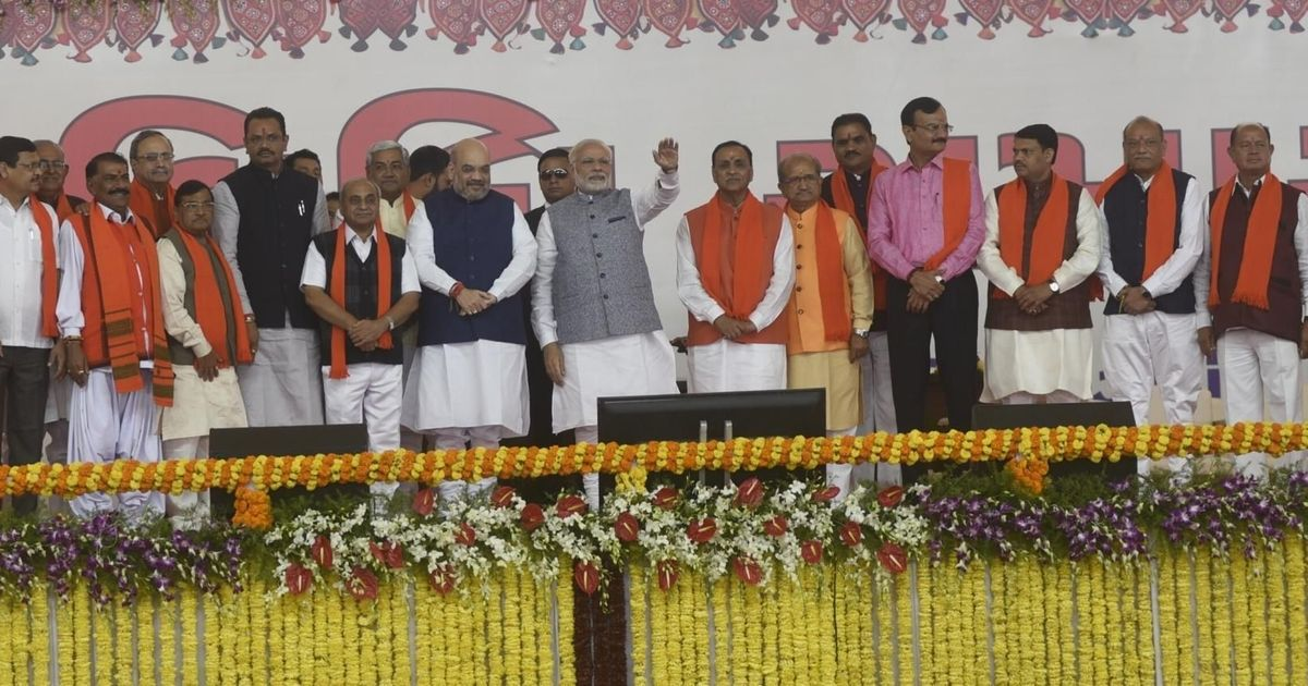 Vijay Rupani takes oath as Gujarat chief minister along with