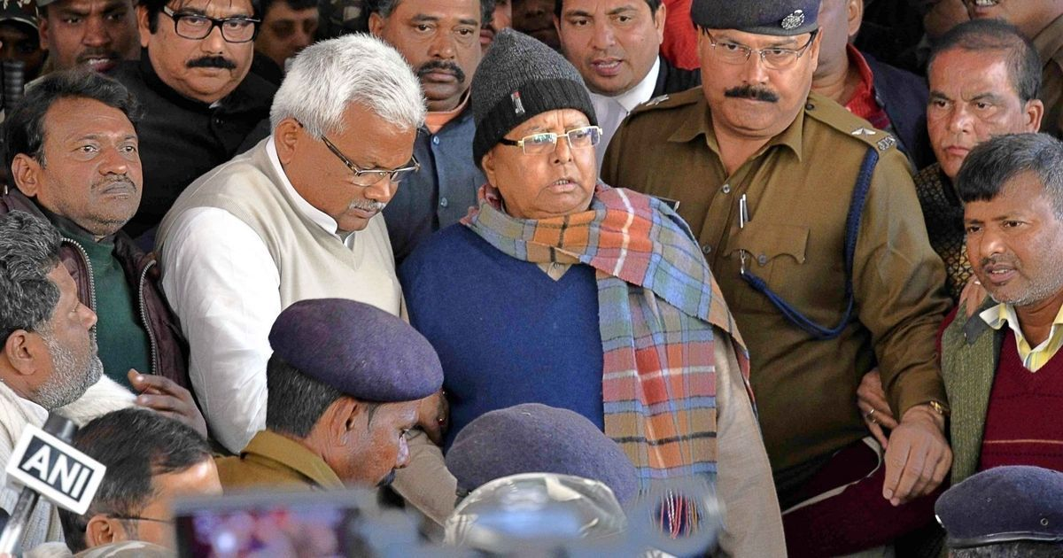 Fodder scam CBI court sentences Lalu Prasad Yadav to 3.5 years in jail