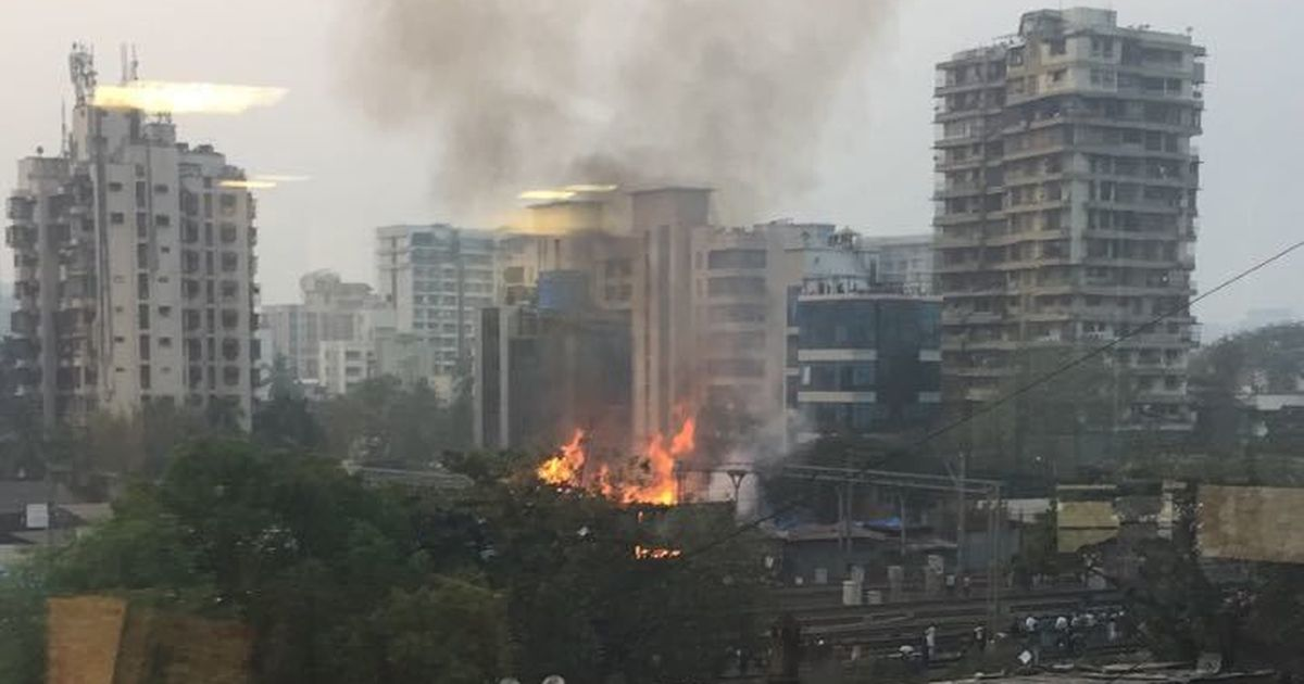 Fire Breaks Out in Timber Shop on SV Road in Andheri