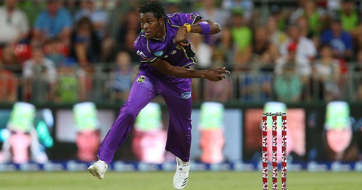 Watch: Emerging star Jofra Archer takes a stunning return catch in the Big Bash League