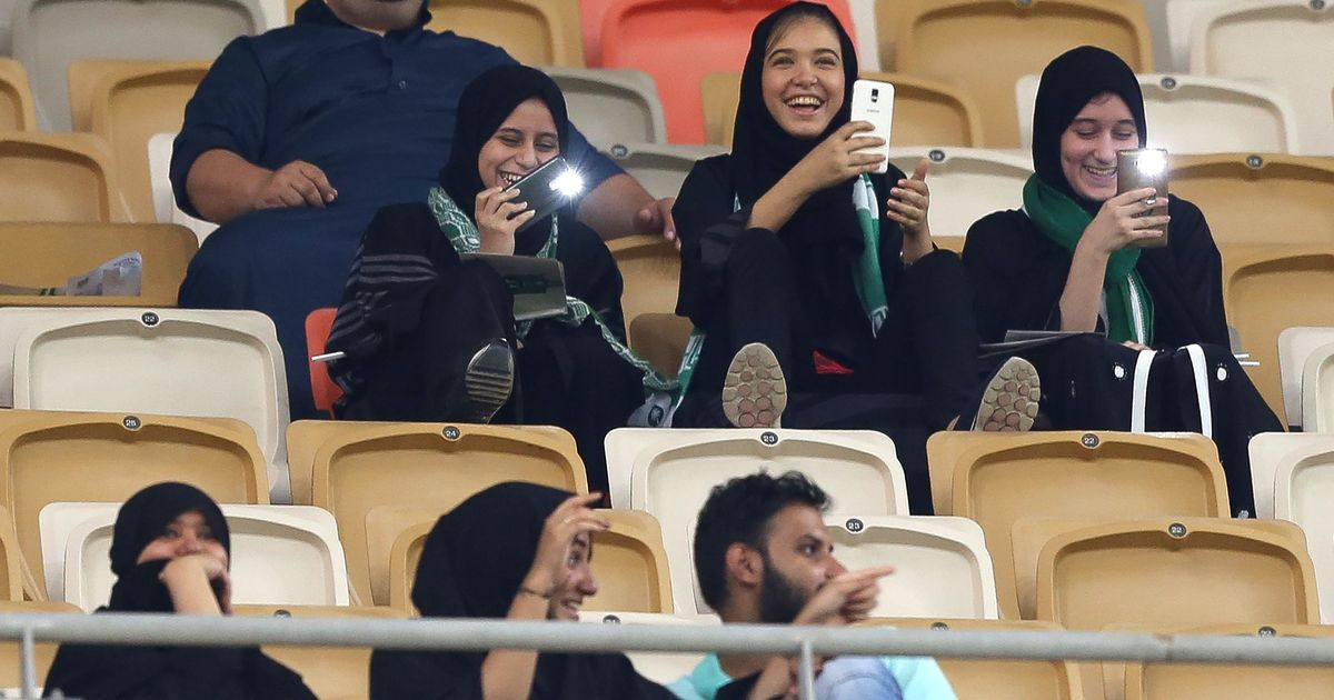 'Proud and extremely happy': Saudi women after entering football stadium for first time