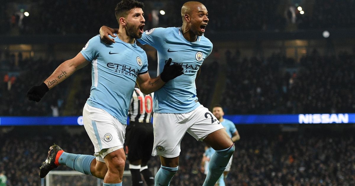 Aguero hat-trick gets City back on track