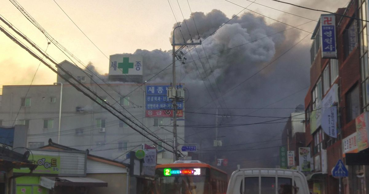 South Korea hospital fire kills 31, injures dozens