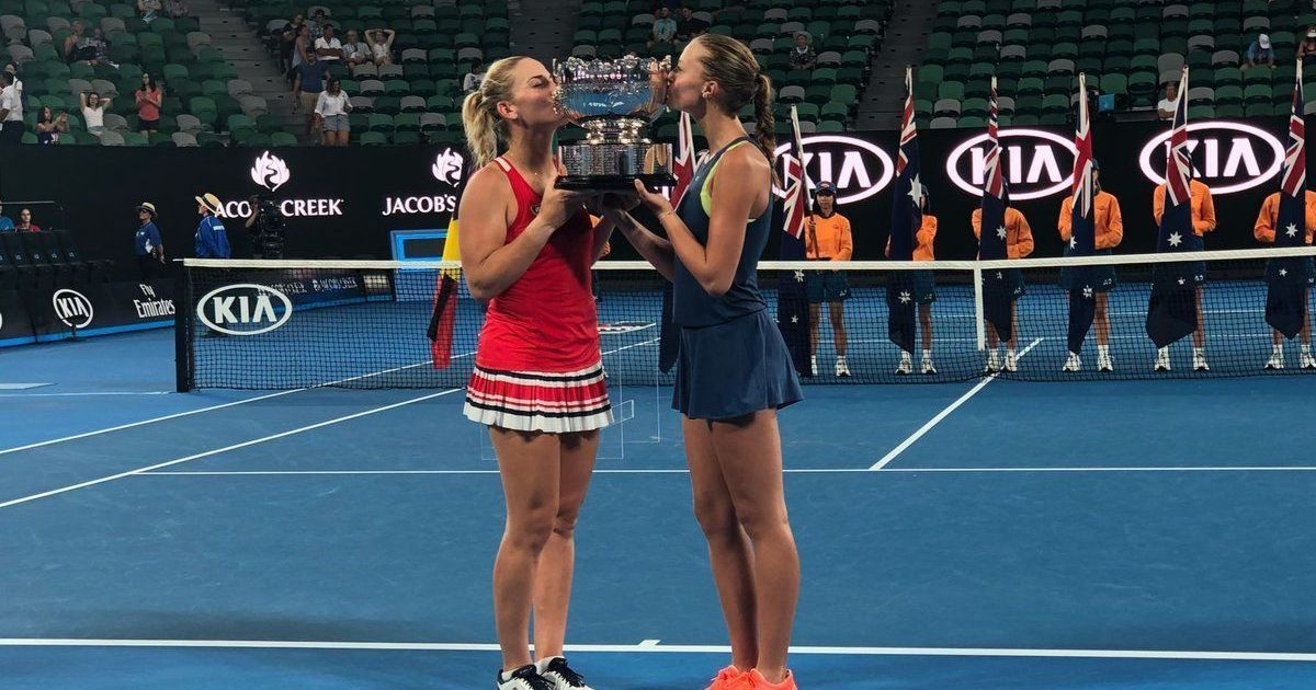 Mladenovic finds relief in Aus Open doubles title