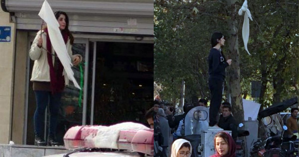 Women in Iran protest without headscarves against law that makes hijab compulsory in public