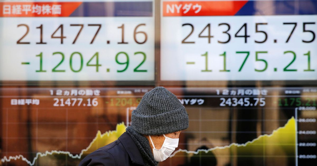 Dow Jones falls the most in a day since 2008 financial crisis triggers losses in Asian markets