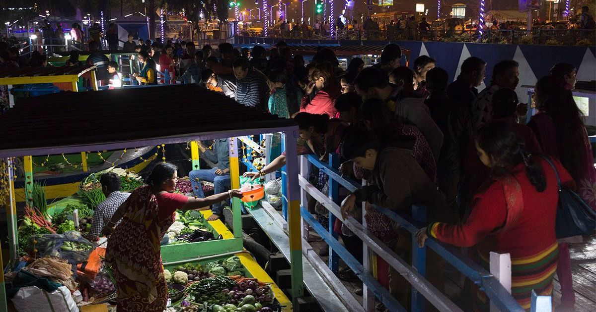 Photos: The delight and wariness at India's first floating market in Kolkata