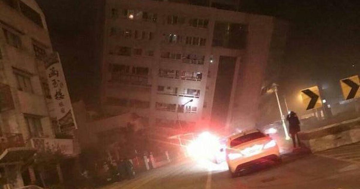 L'hôtel s'effondre partiellement à Taïwan après qu'un séisme de magnitude 6,4 frappe la ville de Hualien