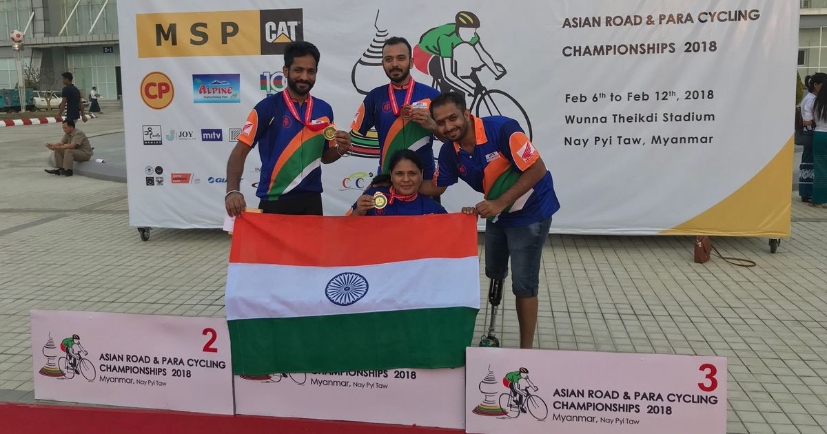 India para-cyclists win silver, two bronze at Asian Championships