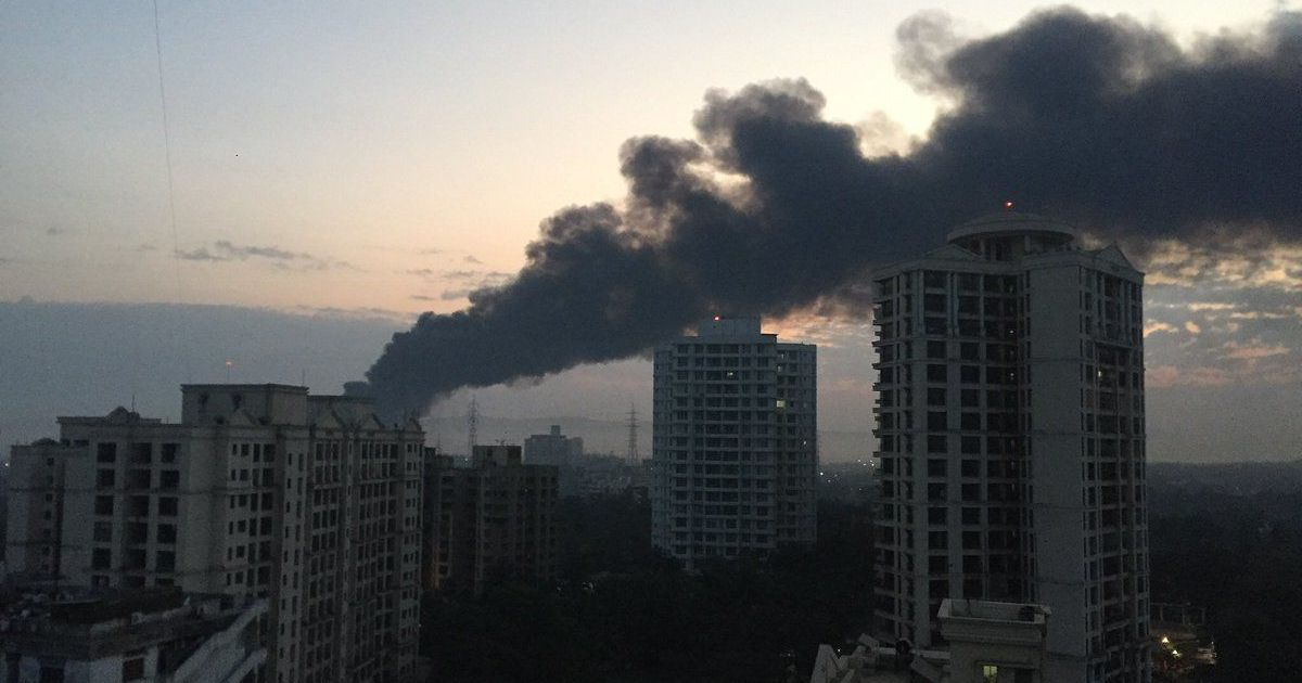 Massive fire breaks out at scrapyard in Mankhurd