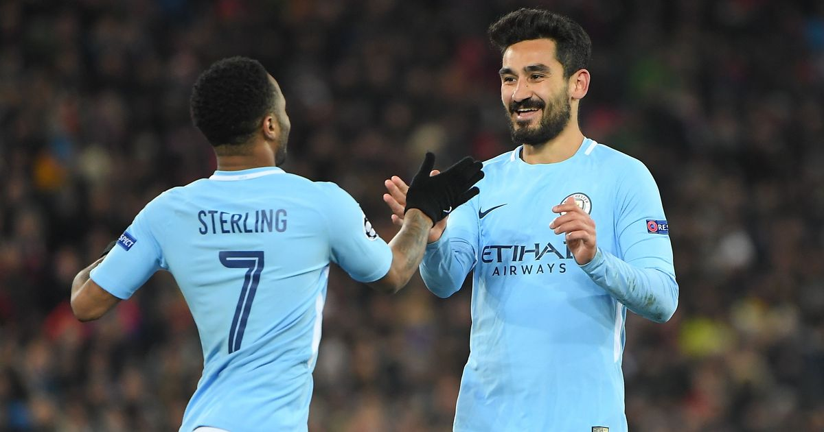 Manchester City have one foot in Champions League quarters after a 4-0 rout of Basel