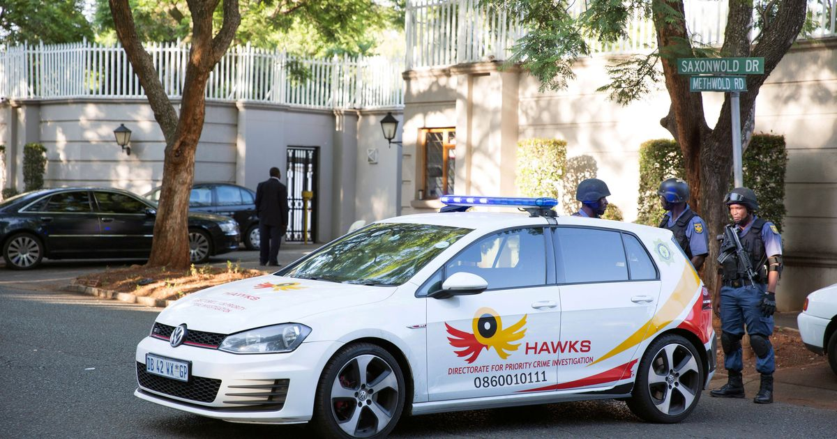 South African Police raid Johannesburg home of President Zuma's allies, the Gupta family
