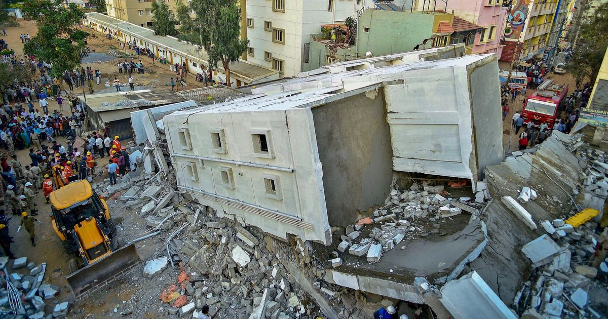 Bengaluru: Three workers killed after under-construction building collapses, many feared trapped