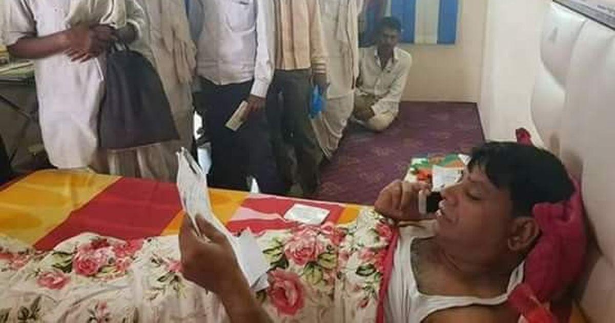 क्या भाजपा विधायक ओमप्रकाश हुडला बिस्तर पर लेटे ही लोगों की फ़रियाद सुनते हैं?