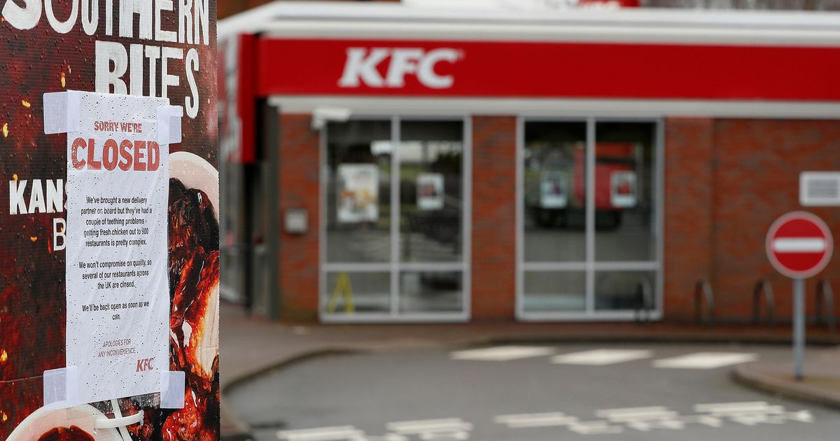 'The Colonel is working on it': Chicken shortage forces KFC to close nearly 900 outlets in UK