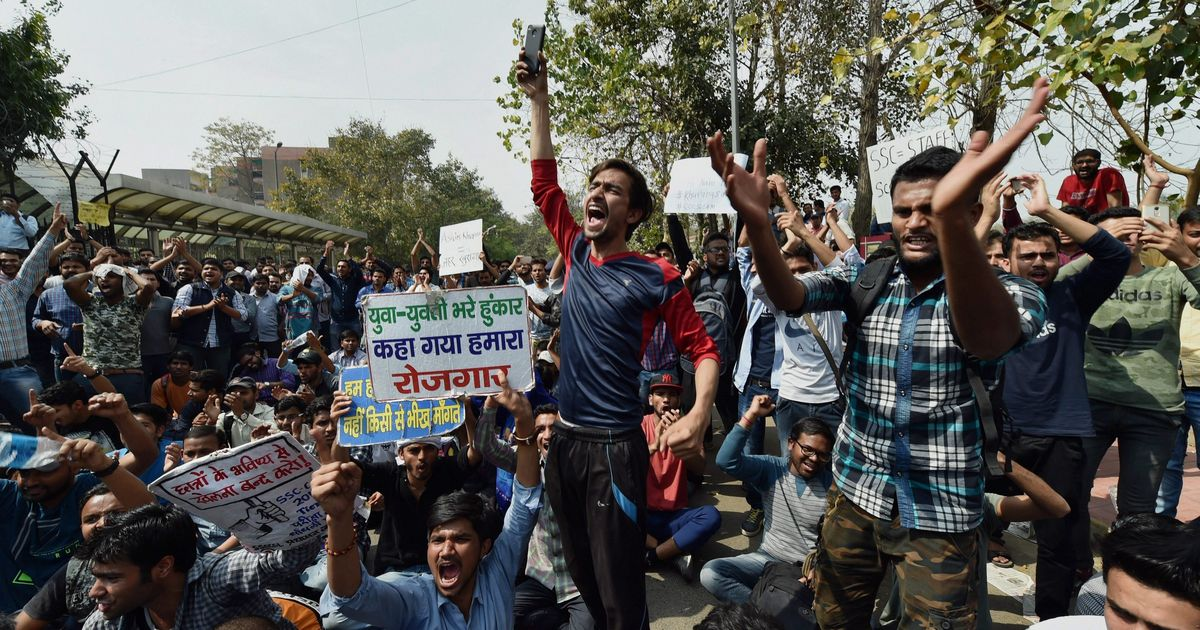 Delhi: Protests against alleged scam in SSC exams enter third day, aspirants demand CBI probe