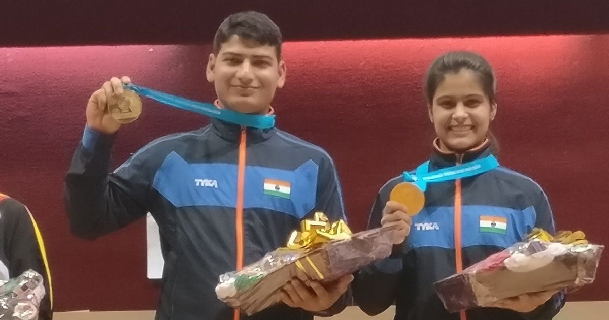 16-year-old Manu Bhaker shoots gold, bronze for Ravi Kumar