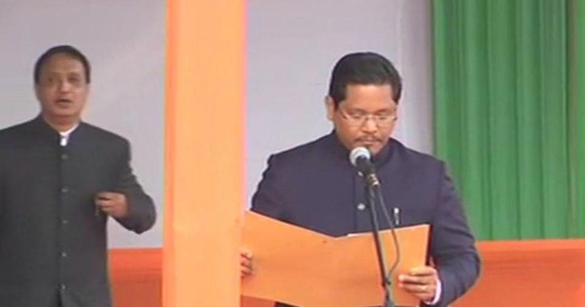 कॉनराड संगमा ने मेघालय के मुख्यमंत्री के तौर पर शपथ ली
