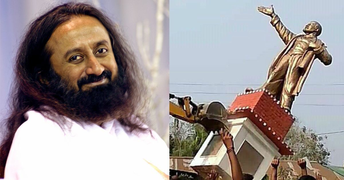 Toppled statue in Tripura and a warning to Supreme Court from Sri Sri in Ayodhya: Is this Achhe Din?