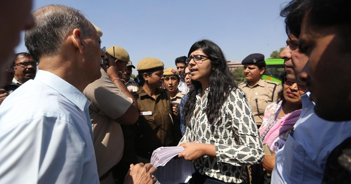 DCW Chief detained by Delhi police along with #RapeRoko campaigners