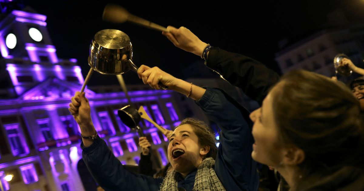 Thousands of women go on strike in Spain for International Women's Day