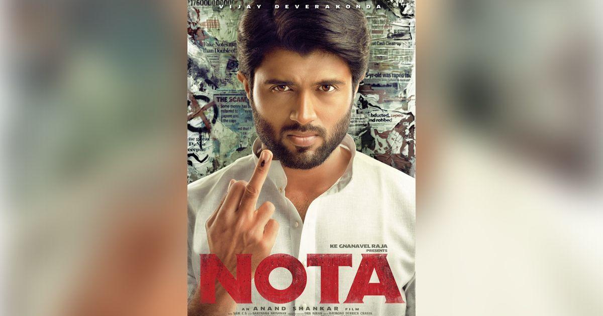 First look: 'Arjun Reddy' star Vijay Deverakonda shows an inked finger in Tamil drama 'NOTA'