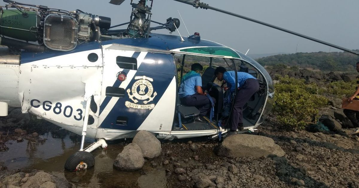 Maharashtra: Indian Coast Guard helicopter crashes, crew injured
