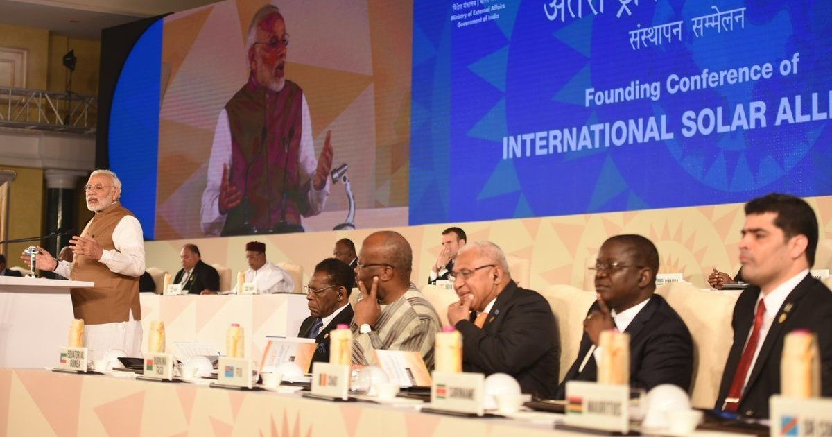 Vedas could help fight climate change says PM Narendra Modi at first meet of global solar alliance